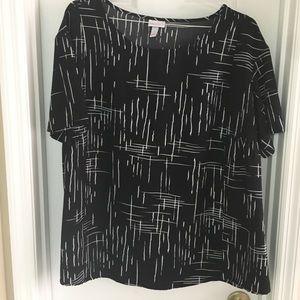 Black maternity blouse